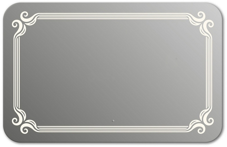 Design QR De Paris H800 80x130 смМебель для ванной<br>Зеркало прямоугольной формы со скругленными углами из модельного ряда Design с фронтальной Led-подсветкой. Высота зеркала - 80 см, глубина (с учетом монтажного крепления и корпуса) - 4 см, ширина - 130 см.<br>