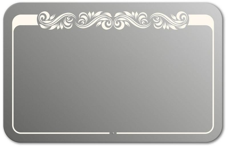 Design QR-beauty Top H750 75x90 смМебель для ванной<br>Зеркало прямоугольной формы со скругленными углами из модельного ряда Design c фронтальной Led-подсветкой. Высота зеркала - 75 см, глубина (с учетом монтажного крепления и корпуса) - 4 см, ширина - 90 см.<br>