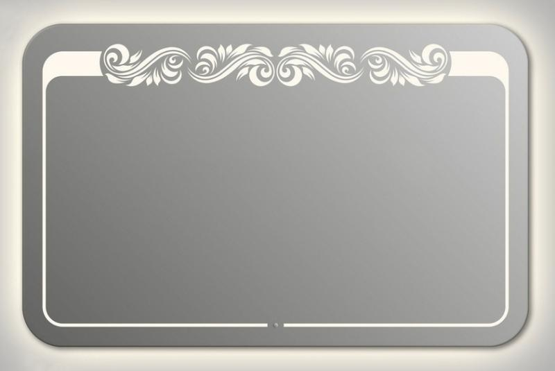 Design QR-beauty Top Contour H750 75x100 смМебель для ванной<br>Зеркало прямоугольной формы со скругленными углами из модельного ряда Design c контурной и фронтальной Led-подсветкой. Высота зеркала - 75 см, глубина (с учетом монтажного крепления и корпуса) - 4 см, ширина - 100 см.<br>