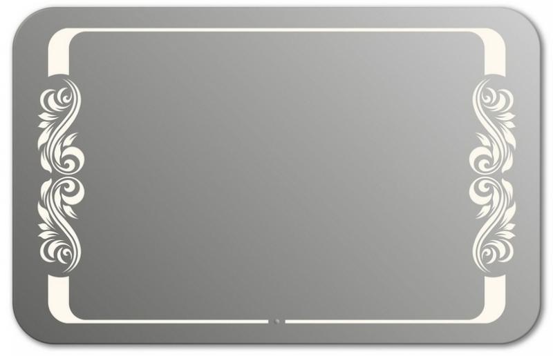 Design QR-beauty 2V H800 80x130 смМебель для ванной<br>Зеркало прямоугольной формы со скругленными углами из модельного ряда Design c фронтальной Led-подсветкой. Высота зеркала - 80 см, глубина (с учетом монтажного крепления и корпуса) - 4 см, ширина - 130 см.<br>