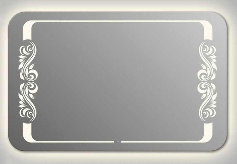 Design QR-beauty 2V Contour H800 80x130 смМебель для ванной<br>Зеркало прямоугольной формы со скругленными углами из модельного ряда Design c контурной и фронтальной Led-подсветкой. Высота зеркала - 80 см, глубина (с учетом монтажного крепления и корпуса) - 4 см, ширина - 130 см.<br>