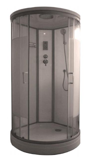 Душевая кабина Luxus Helin T15 хром матовый/стекло прозрачное