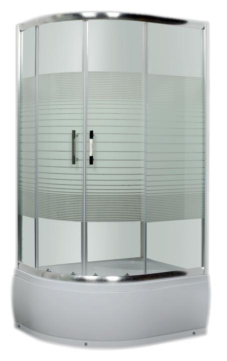 Душевой уголок Luxus Lang L013 Хром/стекло с принтом R