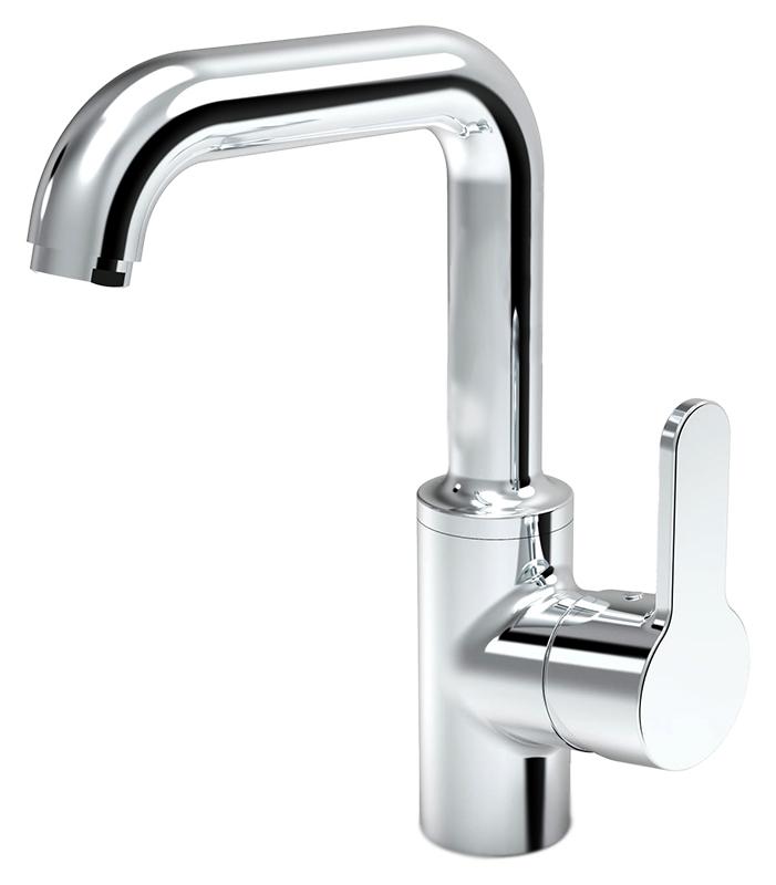 Aquita 2933F хромСмесители<br>Смеситель для раковины Oras Aquita 2933F с донным клапаном, поворотным изливом и аэратором. Встроенные опции ограничения температуры и максимальной скорости потока воды. Горячая вода: max. +90°C, рабочее давление: 100 - 1000 kPa, расход воды (300 кПа) (с ограничителем потока): 0,1 л/с, уровень шума: I (ISO3822). В комплекте поставки: смеситель, донный клапан, гибкая подводка.<br>