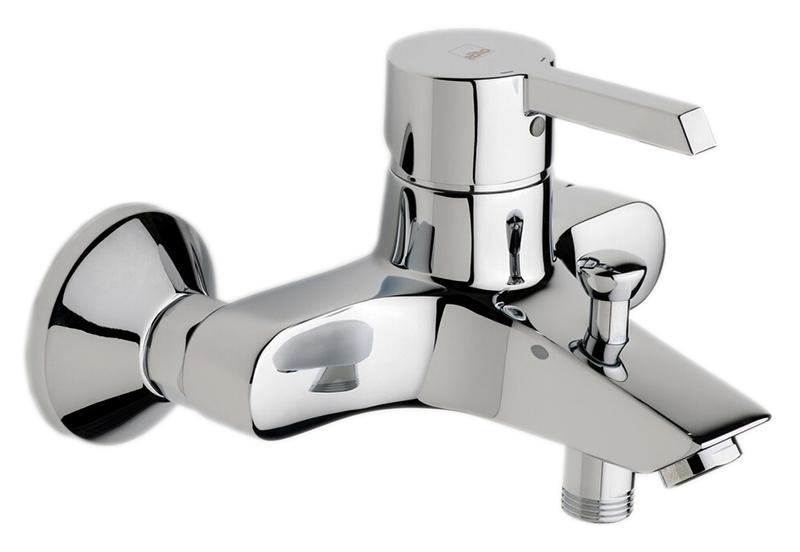 Nordia 2340U хромСмесители<br>Смеситель для ванны Oras Nordia 2340U с эксцентриковыми соединителями и розетками. Горячая вода: max. +90°C, рабочее давление: 100 - 1000 kPa, расход воды (300 кПа): 0,33 л/с, уровень шума: I (ISO3822).<br>