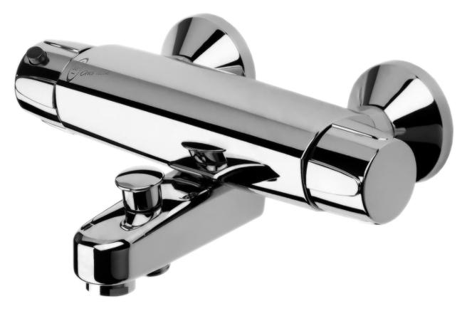 Nova 7442X хромСмесители<br>Tермостатический смеситель для ванны Oras Nova 7442X с эксцентриковыми соединителями с затворами и розетками. Подключение горячей воды с правой стороны. Горячая вода: max. +80°C, потеря давления при расходе 0,3 л/с: 250 kPa, рабочее давление: 100 - 1000 kPa, расход воды (300 кПа): 0,33 л/с, уровень шума: II (ISO 3822) Oras lab.<br>
