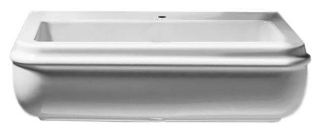 Charme CHA255 bianco lucidoРаковины<br>Раковина Azzurra Charme CHA255 выполнена в современном стиле. Одно отверстие для смесителя выбито.<br>