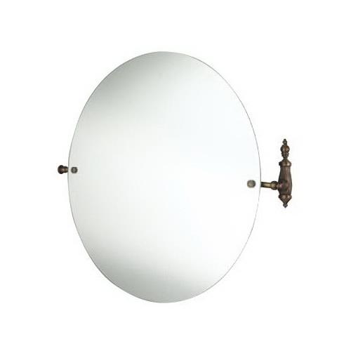 Retro Opal OP023br БронзаАксессуары для ванной<br>Круглое зеркало  Allpe Rerto Opal настенного монтажа. Держатель цвета бронза.<br>