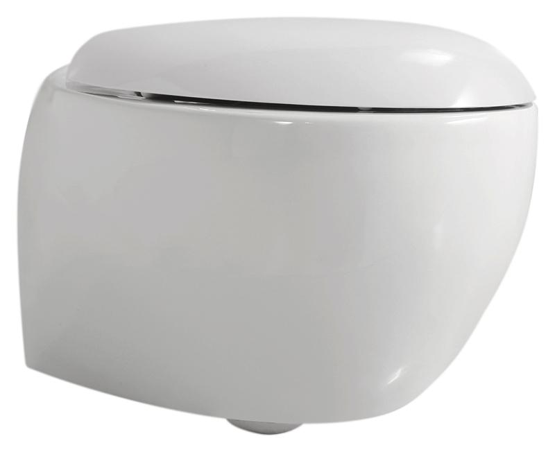 Clas+ CLP 100/Sosk bianco lucidoУнитазы<br>Унитаз подвесной Azzurra Clas+ CLP 100/Sosk с мягкими линиями, белоснежной глянцевой керамикой и визуальной иллюзией уменьшенного объема ассоциируется с невесомым облачком. Цена указана за чашу унитаза и комплект крепления KIT 2000 CF. Все остальное приобретается дополнительно.<br>