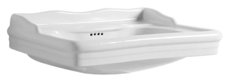 Giunone GIU200 58/Alza bianco lucidoРаковины<br>Раковина Azzurra Giunone GIU200 58/Alza с белоснежной глянцевой керамикой выполнена в стиле Викторианской эпохи, но при этом может сочетаться как с современным так и с ретро дизайном ванной комнаты. Одно отверстие для смесителя выбито. По желанию можно приобрести пьедестал для раковины. Цена указана за раковину. Все остальное приобретается дополнительно.<br>