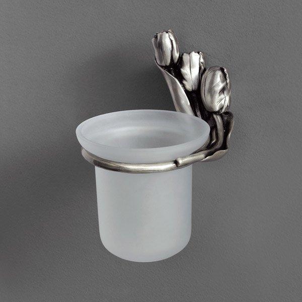 Tulip AM-0821-T СереброАксессуары для ванной<br>Щётка для унитаза Art&amp;Max Tulip AM-0821-T подвесная. Цвет изделия -  серебро.<br>
