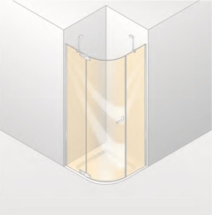 Душевой уголок Huppe Paris 90х90 PT1020.C55.322 Глянцевый хром/Белый/Прозрачное