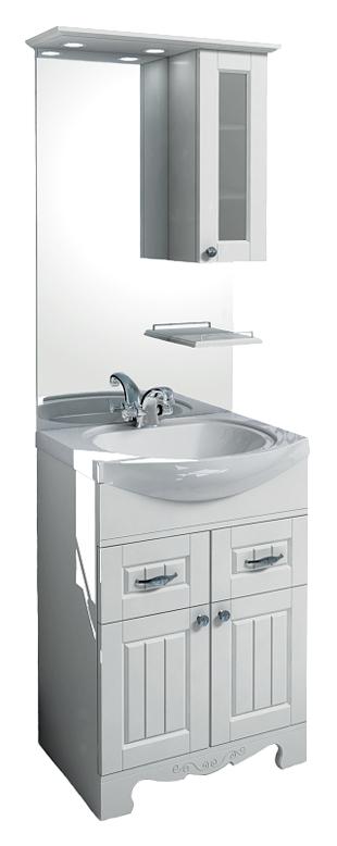 Гент 60 Белая матоваяМебель для ванной<br>Тумба под раковину Aqualife Design Гент 60, два выдвижных ящика. В комплекте поставки: тумба под раковину.<br>