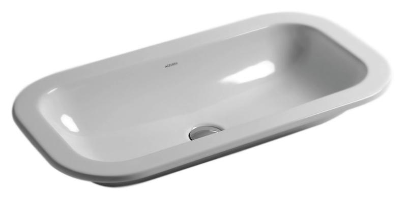 Glaze GLZ 69x38/IN bianco lucidoРаковины<br>Раковина Azzurra Glaze GLZ 69x38/IN выполнена в строгом и аккуратном стиле.<br>