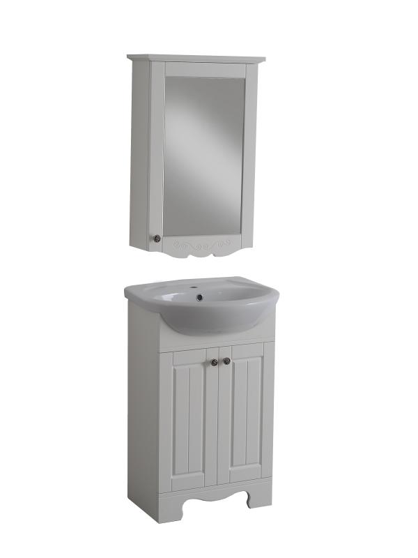 Гент 55 Белая матоваяМебель для ванной<br>Тумба под раковину Aqualife Design Гент 60 без ящиков. Стоимость указана только за тумбу, дополнительно вы можете приобрести раковину, зеркальный шкаф и пенал.<br>
