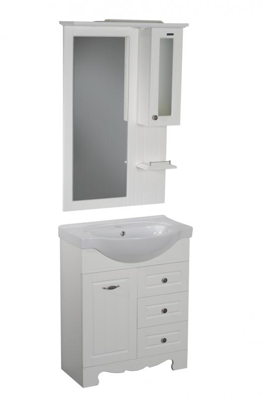 Гент 70 Белая матоваяМебель для ванной<br>Тумба под раковину Aqualife Design Гент 70, три выдвижных ящика, бельевая корзина. Стоимость указана только за тумбу, дополнительно вы можете приобрести раковину, зеркальный шкаф и пенал.<br>