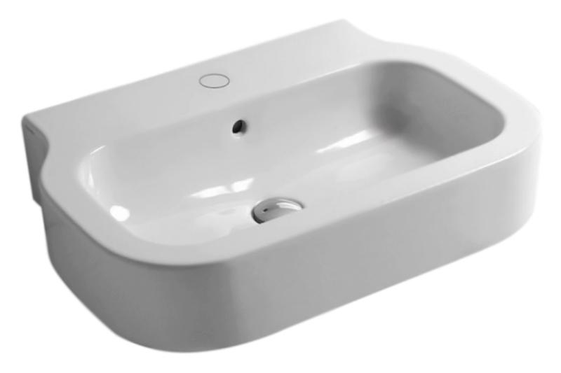 Glaze GLZ260M/Sosp bianco lucidoРаковины<br>Раковина подвесная Azzurra Glaze GLZ260M/Sosp с белоснежной глянцевой керамикой выполнена в простом минималистичном стиле со строгими линиями и утонченными силуэтами. Универсальный дизайн раковины подойдет как для классического, так и для современного интерьера ванной комнаты. Одно отверстие для смесителя выбито. Цена указана за раковину. Все остальное приобретается дополнительно.<br>