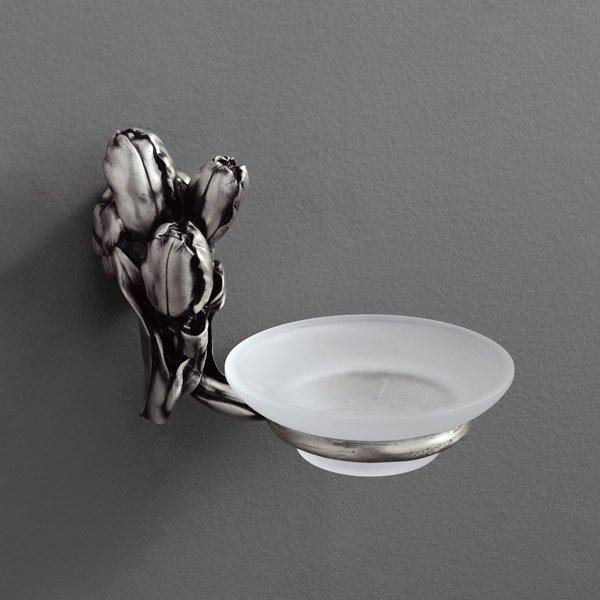 Tulip AM-0825-T СереброАксессуары для ванной<br>Мыльница Art&amp;Max Tulip AM-0825-T подвесная. Цвет изделия - серебро.<br>