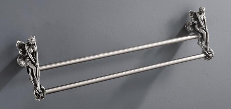 Tulip AM-0828-T СереброАксессуары для ванной<br>Двойной полотенцедержатель Art&amp;Max Tulip AM-0828-T подвесной. Цвет изделия - серый.<br>