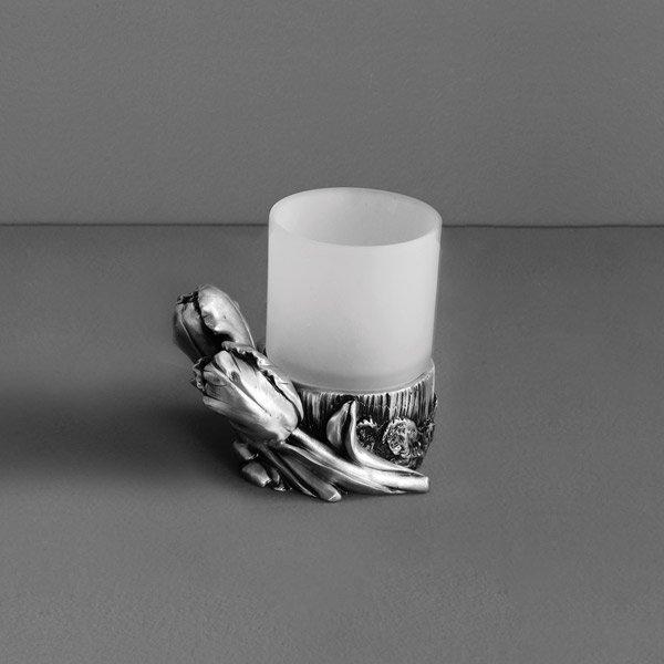 Tulip AM-0082D-T СереброАксессуары для ванной<br>Стакан Art&amp;Max Tulip AM-0082D-T настольный. Цвет изделия - серебро.<br>