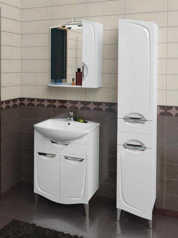 Иматра 50 БелаяМебель для ванной<br>Тумба под раковину Aqualife Design Иматра 50, без ящиков. Стоимость указана только за тумбу. Дополнительно вы можете приобрести раковину, шкаф-пенал и зеркало.<br>