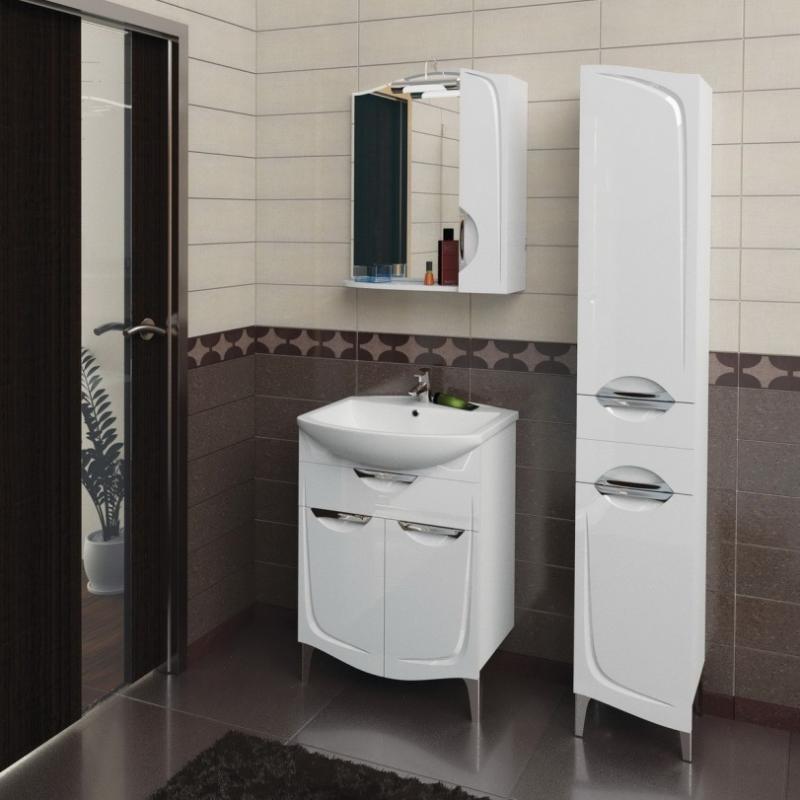 Иматра 60 БелаяМебель для ванной<br>Тумба под раковину Aqualife Design Иматра 60 с 2 ящиками.  Стоимость указана только за тумбу. Дополнительно вы можете приобрести раковину, шкаф-пенал и зеркало.<br>