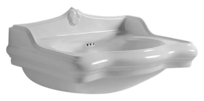 Jubilaeum JUB200/50 bianco lucido, 1 отверстие под смеситель справаРаковины<br>Раковина Azzurra Jubilaeum JUB200/50 с белоснежной глянцевой керамикой, изящными округлыми формами и плавными изогнутыми линиями выполнена в стиле Викторианской эпохи. Одно отверстие для смесителя выбито справа. По желанию можно приобрести пьедестал для раковины. Цена указана за чашу раковины. Все остальное приобретается дополнительно.<br>