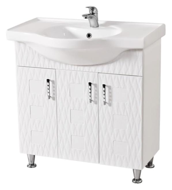 Ассоль 80 белаяМебель для ванной<br>Тумба с раковиной Аква Родос Ассоль 80, с тремя распашными дверцами, с элегантными ручками, с австрийской фурнитурой, обеспечивающей плавное открытие-закрытие, с ножками, которые легко выставляются по высоте. 3D фасад придаёт тумбе уникальную огранку. Качественные материалы и комплектующие обеспечат Вам комфорт в пользовании мебелью. Цена указана за тумбу и раковину Классик 80. Все остальное приобретается дополнительно.<br>