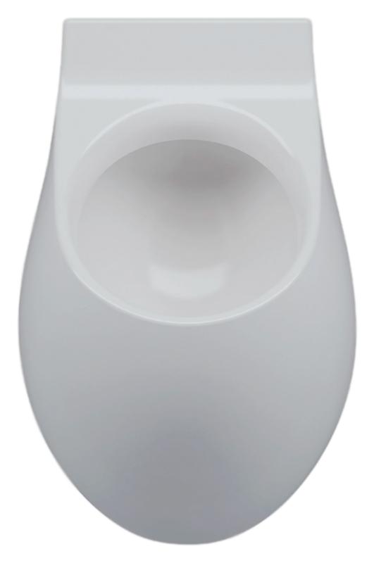 Писсуар Azzurra Nuvola NUV100/OR bianco lucido, без отверстий для крышки писсуар hatria fusion q yxe1 без крышки