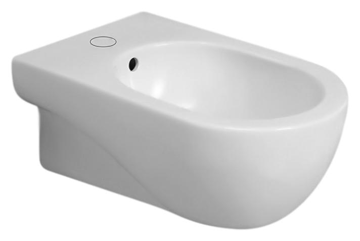Nuvola NUV500/Sosk bianco lucidoБиде<br>Биде подвесное Azzurra Nuvola NUV500/Sosk с белоснежной глянцевой керамикой кажется простым на вид, но скрывает оригинальный и продуманный дизайн. Какой бы ни была по площади ванная комната - биде, а может и в сочетании с моделями своей коллекции, создаст функциональный и уютный современный интерьер. Одно отверстие для смесителя выбито. Цена указана за чашу биде и комплект крепления KIT2000CF. Все остальное приобретается дополнительно.<br>