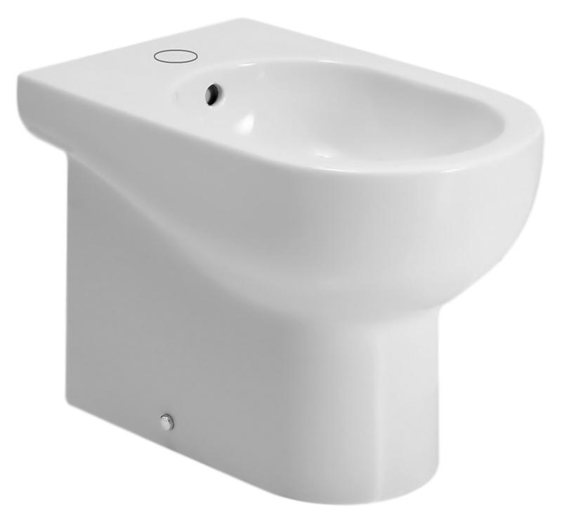 Nuvola NUV500 bianco lucidoБиде<br>Биде напольное Azzurra Nuvola NUV500 с белоснежной глянцевой керамикой кажется простым на вид, но скрывает оригинальный и продуманный дизайн. Какой бы ни была по площади ванная комната - биде, а может и в сочетании с моделями своей коллекции, создаст функциональный и уютный современный интерьер. Одно отверстие для смесителя выбито. Цена указана за чашу биде и комплект крепления к полу VFV. Все остальное приобретается дополнительно.<br>