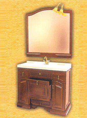 Clio 90 НагалМебель для ванной<br>Мебель для ванной Два Водолея Clio 90. Цвет нагал. В стоимость входит тумба. Все остальное приобретается отдельно.<br>