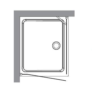 Retro 9144 N1 профиль золото стекло прозрачное рисунок матовыйДушевые ограждения<br>Душевой уголок Kerasan Retro 9144 N1.<br>