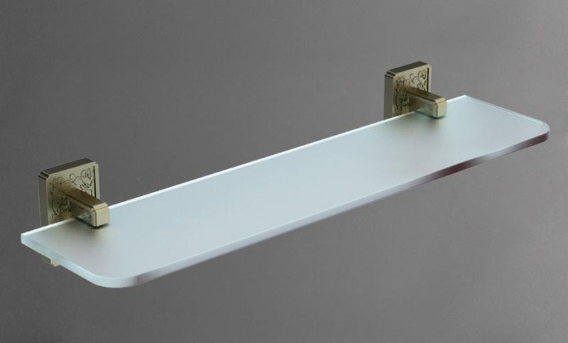 Gotico AM-4882AQ БронзаАксессуары для ванной<br>Настенная стеклянная полка Gotico AM-4882AQ от итальянского бренда  Art&amp;Max. Ширина 50 см, цвет бронза.<br>