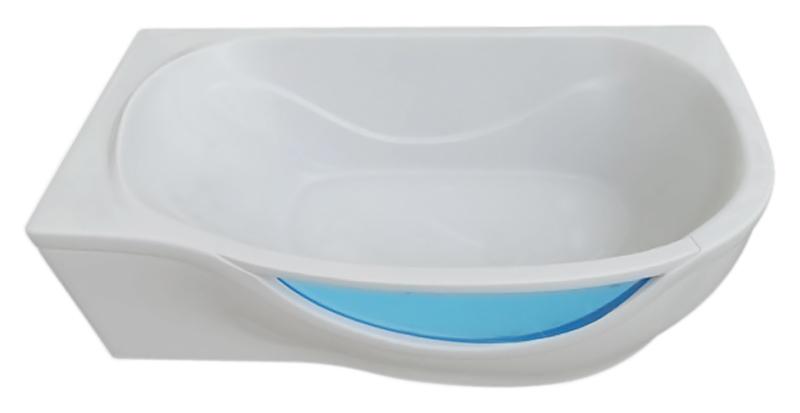 Милена 170 белая, левая (c наклоном для спины справа)Ванны<br>Ванна гелькоутная со стеклом Triton Милена 170 гладкая, воплощение изящества и прочности, станет вашей спутницей на долгие годы. Стальной оцинкованный каркас, полуавтоматический слив - перелив. Гелькоут - это прочный гладкий полимер, который не боится механических повреждений, и очень легко восстанавливается. Ванна выполнена по технологии MFM. Manual Forming Method (метод ручного формования) специально разработан специалистами Triton. Метод позволяет получить максимально прочный компонент при минимальной массе изделия. По методу MFM производят яхты класса люкс, пропеллеры ветровых генераторов, крылья современных гражданских авиалайнеров и военное оборудование различного назначения. В комплект поставки входят:  чаша ванны, каркас и слив-перелив.<br>