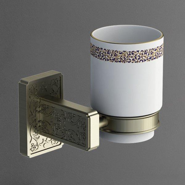 Gotico AM-4868AQ БронзаАксессуары для ванной<br>Настенный стакан Gotico AM-4868AQ итальянского бренда Art&amp;Max для ванной комнаты.<br>