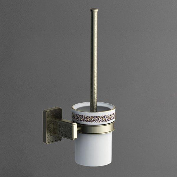 Gotico AM-4881AQ БронзаАксессуары для ванной<br>Ёршик для унитаза Art&amp;Max Gotico AM-4881AQ, колба керамическая, цвет бронза.<br>
