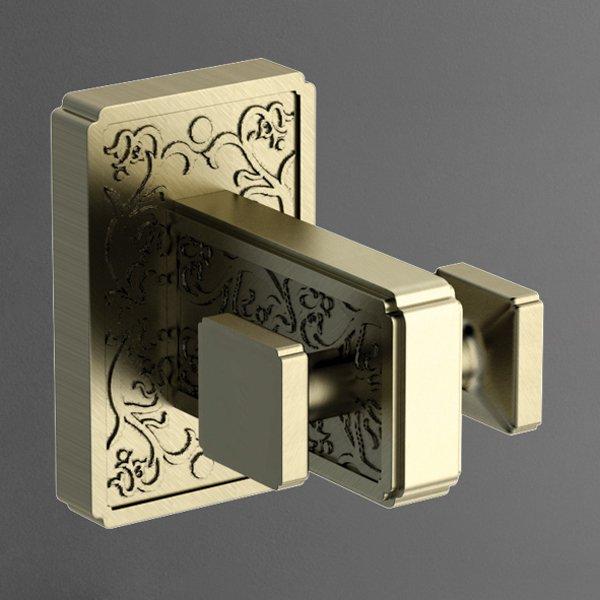 Gotico AM-4886AQ БронзаАксессуары для ванной<br>Двойной крючок Art&amp;Max Gotico AM-4886AQ для полотенец, выполнен в бронзовом цвете.<br>