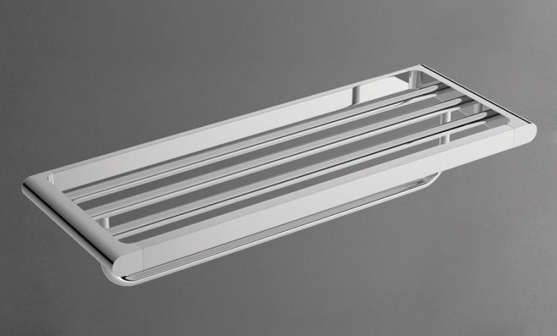 Platino AM-3922AL ХромАксессуары для ванной<br>Настенная полка для полотенец Platino (Платино) AM-3922AL итальянского бренда  Art&amp;Max.<br>