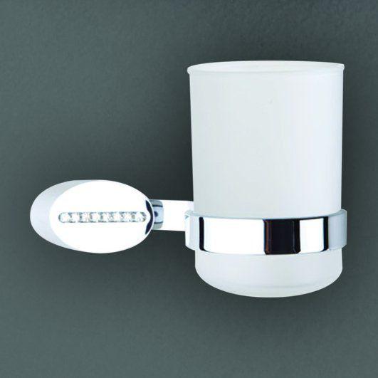 Cristalli AM-4258 ХромАксессуары для ванной<br>Держатель стакана Art&amp;Max Cristalli AM-4258, крепится на стену.<br>