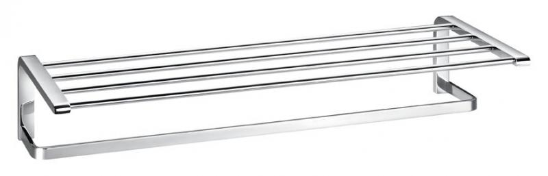 Ultima AM-8925 ХромАксессуары для ванной<br>Полка для полотенец размером 60x25,2x11,8 см из коллекции Ultima производителя Art&amp;Max изготовлена из сплава высокого качества с хромированной поверхностью, устойчивой к воздействию влаги.<br>