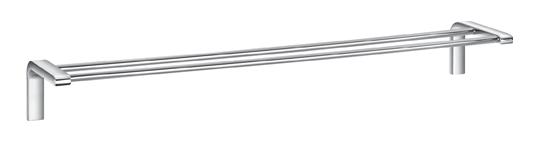 Ultima AM-F-8927 ХромАксессуары для ванной<br>Двойной держатель для полотенец AM-F-8927 - элегантный аксессуар для ванной комнаты. Модель из коллекции Ultima итальянского бренда Art&amp;Max выполнена в размере 600x138x78 мм из высококачественного, устойчивого к коррозии сплава в цвете хром.<br>