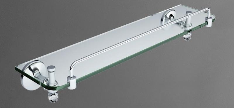 Antic Crystal AM-2682SJ-Cr ЗолотоАксессуары для ванной<br>Полка AM-2682SJ-Do, предназначенная для настенной установки в ванных комнатах, выдержана в классическом стиле. Модель, декорированная двумя кристаллами Swarovski, позволяет удобно расположить средства гигиены и ухода. Изделие от компании Art&amp;Max, вошедшее в коллекцию Antic Crystal, изготовлено из надежного стекла.<br>