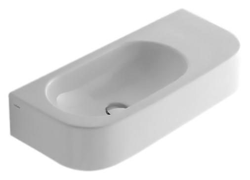 Раковина Globo Forty3 SCT55 bianco lucido, без отверстий под смеситель раковина globo relais re080 bianco lucido