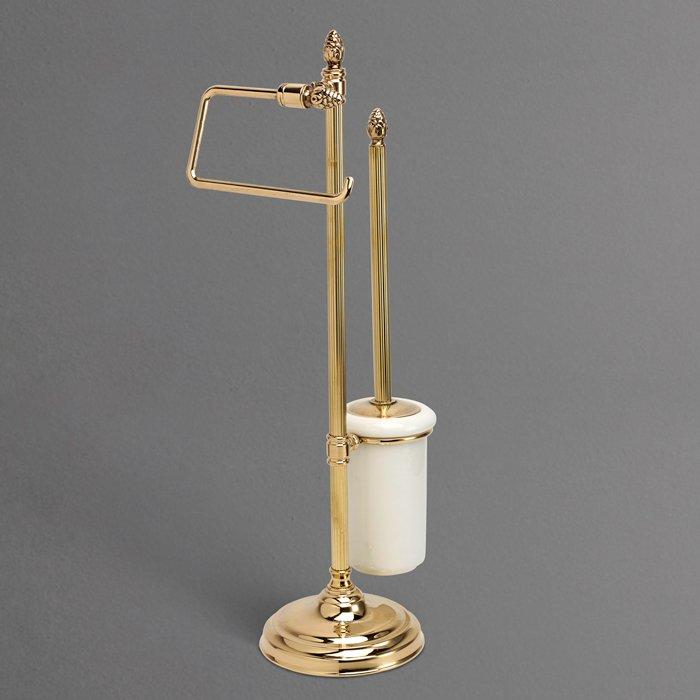 Impero AM-1949-Cr Античное золотоАксессуары для ванной<br>Стойка напольная для унитаза и биде Art&amp;Max Impero AM-1949-Do-Ant подвесная . Цвет изделия - античное золото.<br>