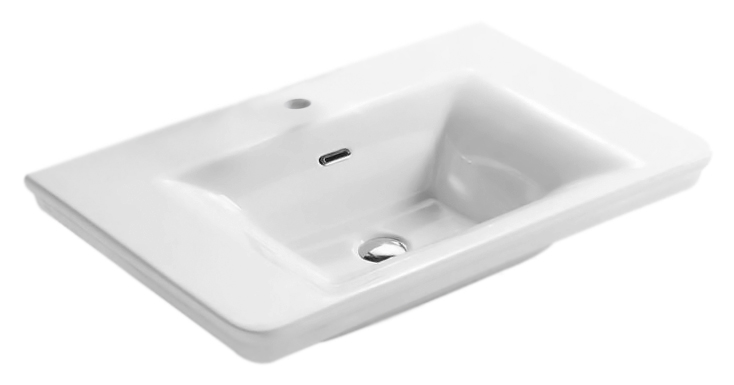 Relais RE080 bianco lucidoРаковины<br>Раковина Globo Relais RE080 белая глянцевая с одним отверстием под смеситель, с переливом. Коллекция Relais выражает виденье современной ванной комнаты в полной гармонии функциональности и эстетики. Предметы коллекции сохраняют стиль прошлого, и в тоже время футуристически интерпретированы, сопровождаются чистыми и строгими формами, навевая желание простоты и ясности. По желанию можно дополнить раковину полотенцедержателем, пьедесталом, полупьедесталом. Цена указана за чашу раковины и комплект креплений. Все остальное приобретается дополнительно.<br>
