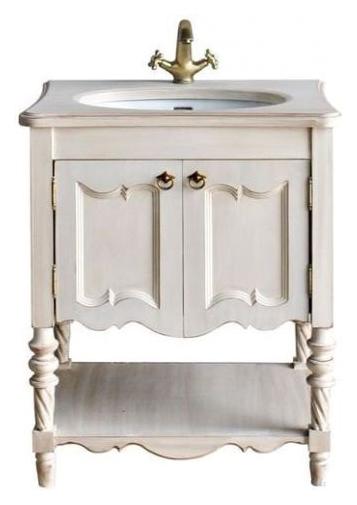 Флоренция Ivory oldМебель для ванной<br>Тумба Атолл Флоренция со встроенной столешницей и раковиной Creavit.<br>