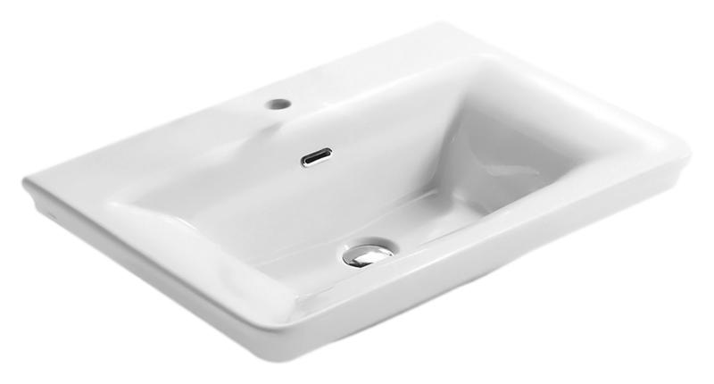 Relais RE070 bianco lucidoРаковины<br>Раковина Globo Relais RE070 белая глянцевая с одним отверстием под смеситель, с переливом. Дизайн умывальника коллекции Relais выражает виденье современной ванной комнаты в полной гармонии функциональности и эстетики. Изделие сохраняет стиль прошлого, и в тоже время футуристически интерпретировано, сопровождается чистыми и строгими формами, навевая желание простоты и ясности.В комплекте поставки: раковина и комплект креплений.<br>