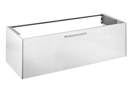 Royal 60 32161430000 Белая матоваяМебель для ванной<br>Тумба для раковины Royal 60 32161430000 140 см с ящиками выдвижными. В современном стиле. Цвет белый матовый, фурнитура хром. Оснащена креплениями, механизмом доводчика. Монтаж подвесной.<br>