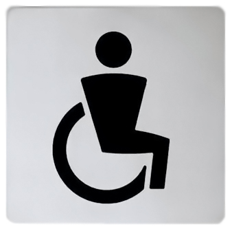 Plan 14968 010000 хром/черныйАксессуары для общественных санузлов<br>Табличка на дверь Keuco Plan 14968 010000 символ для инвалидов.<br>